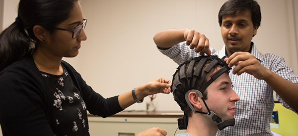 S&T students use EEG headsets like the one pictured to track the marketing interests of consumers.