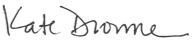 Kate Drowne signature