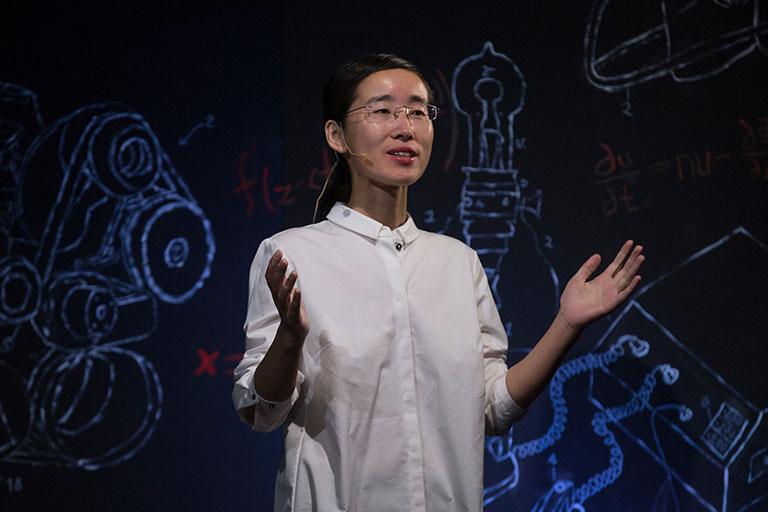 Dr. Grace Yan discusses the importance of community preparation against tornados at TedxMissouriS&T