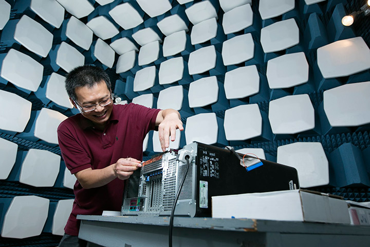 Dr. Jun Fan analyzes electromagnetic interference